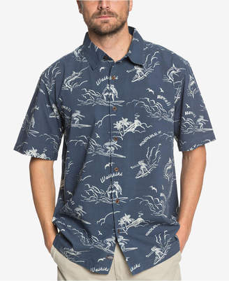 Quiksilver Men's Waterman Town All Day Printed Shirt