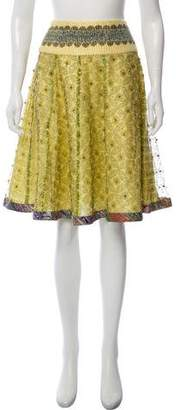 Manish Arora Embellished A-Line Skirt w/ Tags