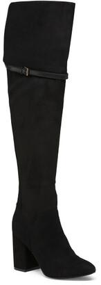 Suede Over The Knee Comfort Boots