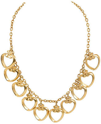 One Kings Lane Vintage Ted Lapidus Gold Heart Charm Necklace