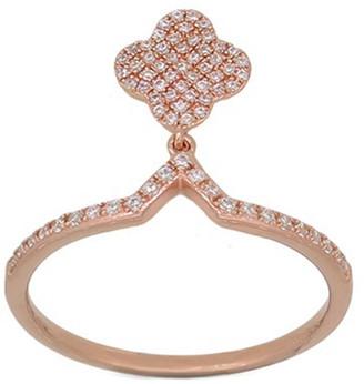 Diana M Fine Jewelry 14K Rose Gold 0.21 Ct. Tw. Diamond Dangle Ring