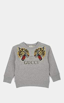 60ec8e7c3a5 Gucci Kids  Leopard-Graphic Cotton Terry Sweatshirt - Gray