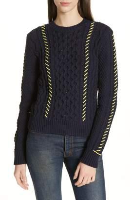 LA LIGNE Cotton Fisherman Sweater