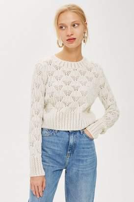 Topshop Geo Stitch Sweater