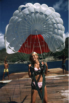 "Jonathan Adler Slim Aarons ""Paraglider"" Photograph"