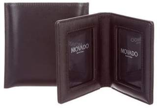 Movado Leather Travel Photo Frame