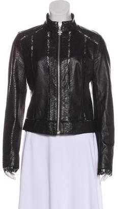Royal Underground Leather Zip-Up Jacket