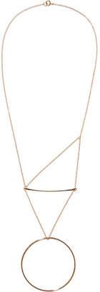 Natasha Schweitzer - Pendulum 14-karat Gold-plated Necklace