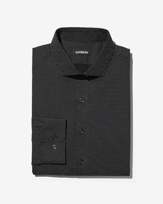 Express Slim Micro Dot Dress Shirt