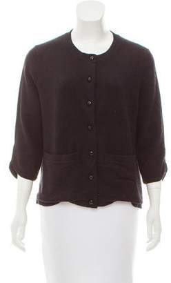 Cassin Cashmere-Blend Button-Up Cardigan