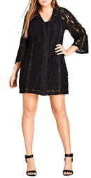 City Chic Innocent Lace Shift Dress
