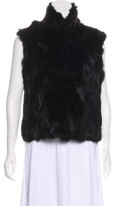 Adrienne Landau Fur Hook-And-Eye Vest