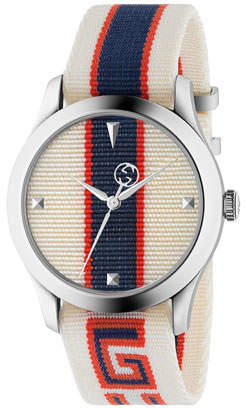 Gucci Nylon Web Stainless Steel Watch