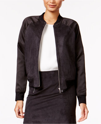 kensie Faux-Suede Bomber Jacket $99 thestylecure.com