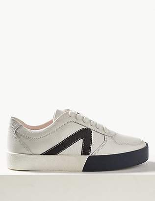 9c4893b7c0e4e0 at Marks and Spencer · M S Collection Leather Lace-up Trainers