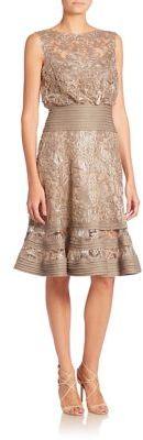 Tadashi Shoji Lace Flouncy Dress $408 thestylecure.com