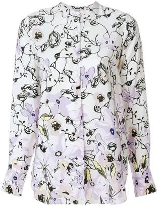 Schumacher Dorothee floral print shirt