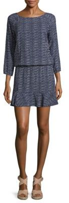 Joie Soft Joie Arryn Lattice-Print Blouson Dress $178 thestylecure.com