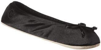 Isotoner Satin Ballerina Slippers Extended Size