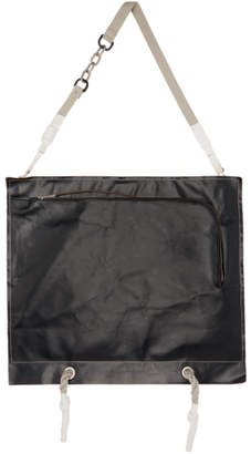 Rick Owens Black Flat Apron Messenger Bag