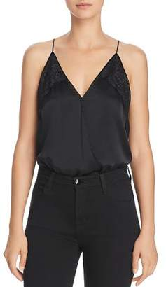 CAMI NYC Courtney Lace-Inset Blouson Bodysuit