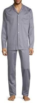 Hanro Jonas Two-Piece Cotton Pajama Set