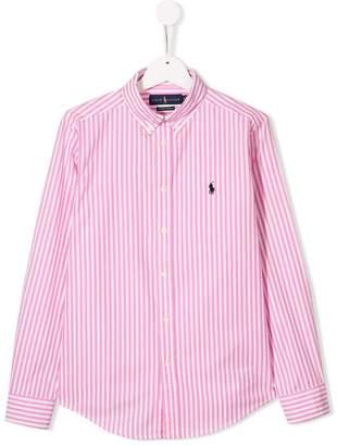 Ralph Lauren Kids TEEN logo striped shirt