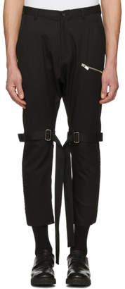 Sulvam Black Bondage Trousers