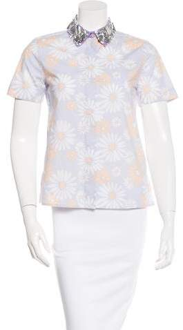 Marc Jacobs Marc Jacobs Embellished Button-Up Top