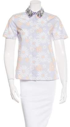 Marc Jacobs Embellished Button-Up Top