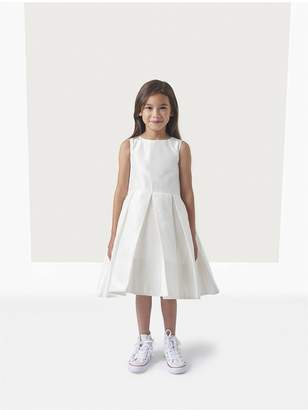 Oscar de la Renta Kids Taffeta Box Pleat Flower Girl Dress With Cape