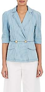 Mayle Maison MAISON WOMEN'S VITA DENIM DOUBLE-BREASTED JACKET