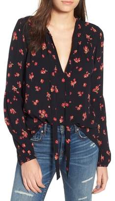 Billabong Birds on High Tie Neck Blouse