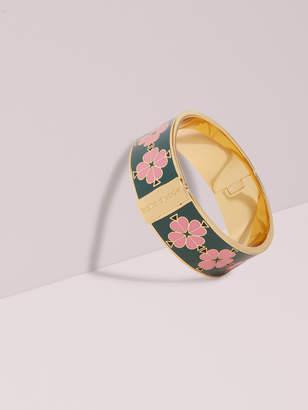 Kate Spade heritage spade thin floral enamel bangle