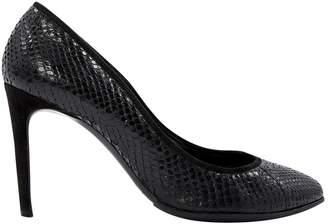 Dolce & Gabbana Black Leather Heels
