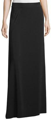 Helmut Lang Draped Maxi Skirt, Black $425 thestylecure.com