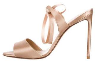 Francesco Russo Lace-Up Satin Sandals w/ Tags