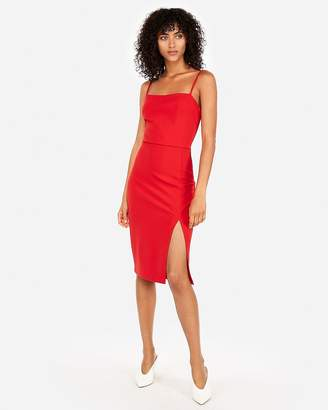 Express Front Slit Sheath Dress