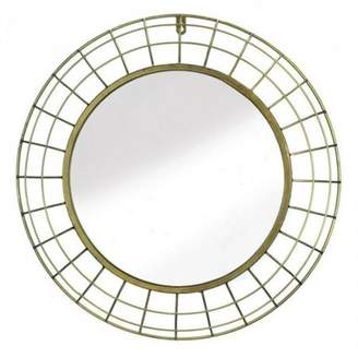Accent Plus GOLDEN WIRE DOME FRAMED WALL MIRROR