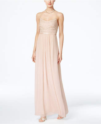 Adrianna Papell Beaded Chiffon Gown $199 thestylecure.com