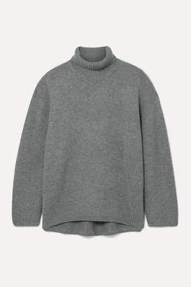 Totême Cambridge Oversized Wool And Cashmere-blend Turtleneck Sweater - Gray