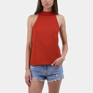 A.L.C. Olympia Moc-Neck Sleeveless Top