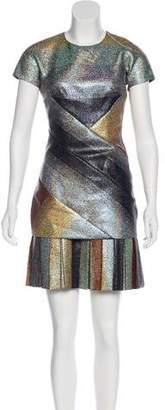 Marco De Vincenzo Metallic Cocktail Dress