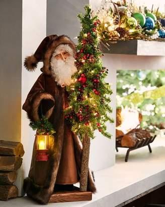 Ditz Designs By The Hen House Woodland Rejoice Santa Holding Tree