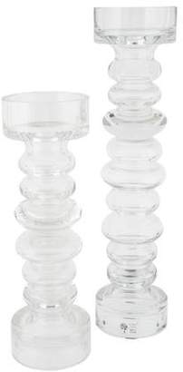 Global Views 2-Piece Ribbed Candle Holder Set