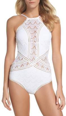 Becca Crochet One-Piece Swimsuit