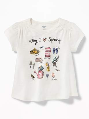 Old Navy Graphic Slub-Knit Swing Top for Toddler Girls