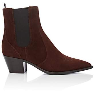 Gianvito Rossi Women's Austin Suede Chelsea Boots - Dk. brown