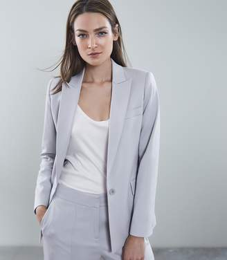 Reiss Cloud Jacket - Slim Fit Blazer in Blue
