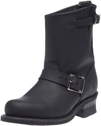 Frye Women's Engineer 8R Ankle Boot, Black Greasy